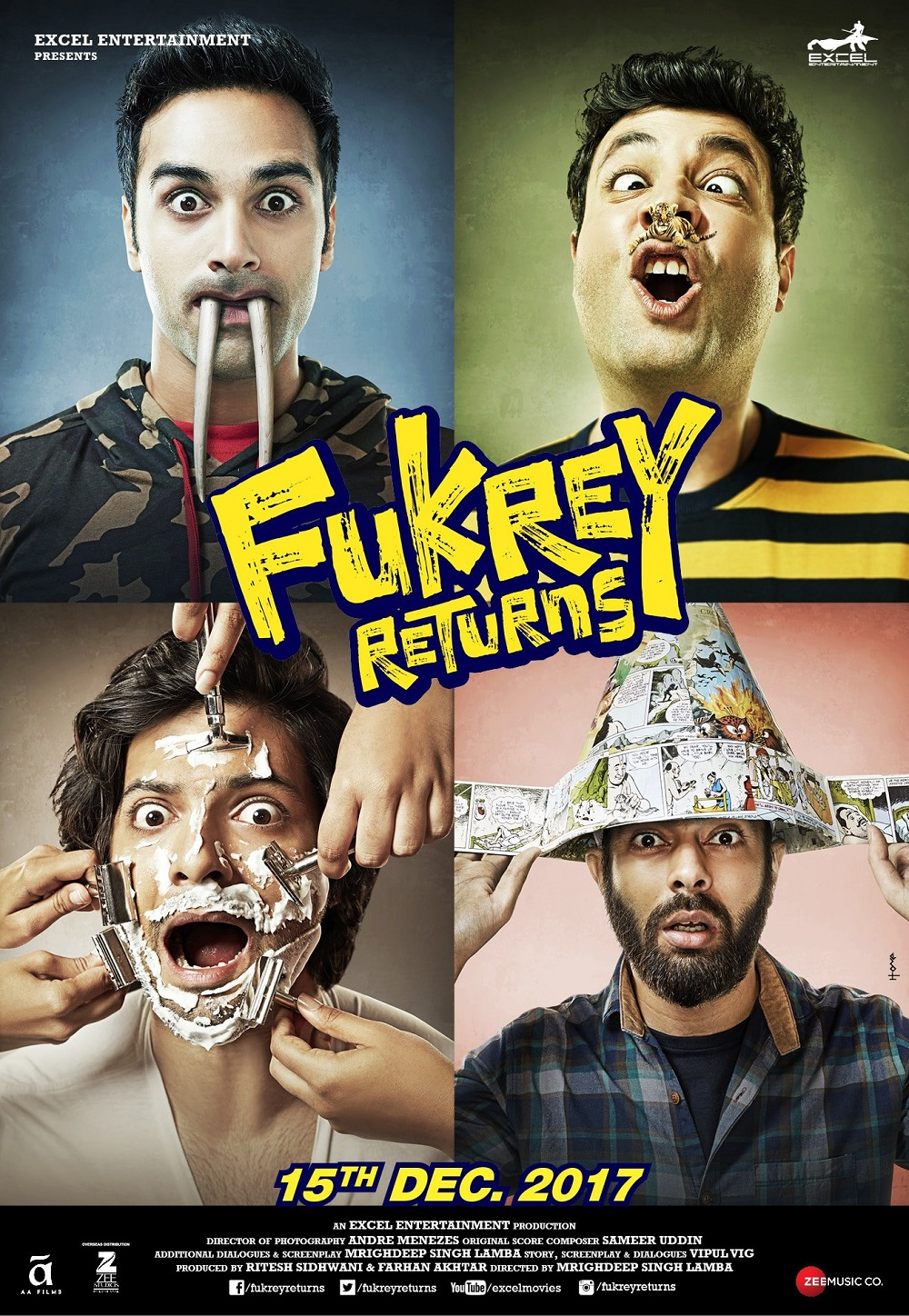 Fukrey Returns 2017 full hd Hindi Movie 480p HDRip 400MB