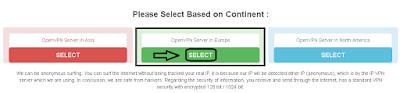 Memilih Server Europe