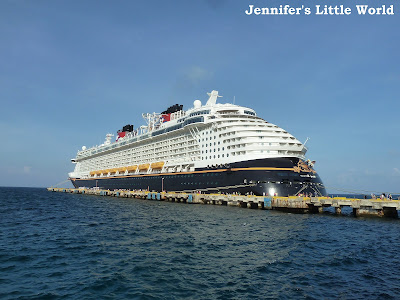 Disney cruise ship in the Caribbean