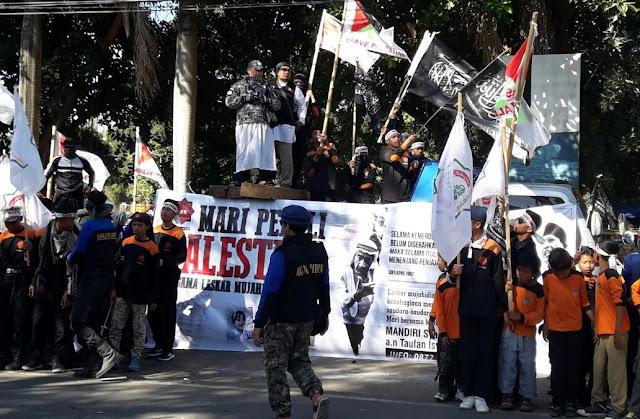 Laskar MMI NTB Gelar Aksi Solidaritas Palestina