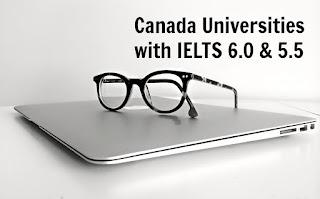 Canada Universities IELTS 6.0 & 5.5