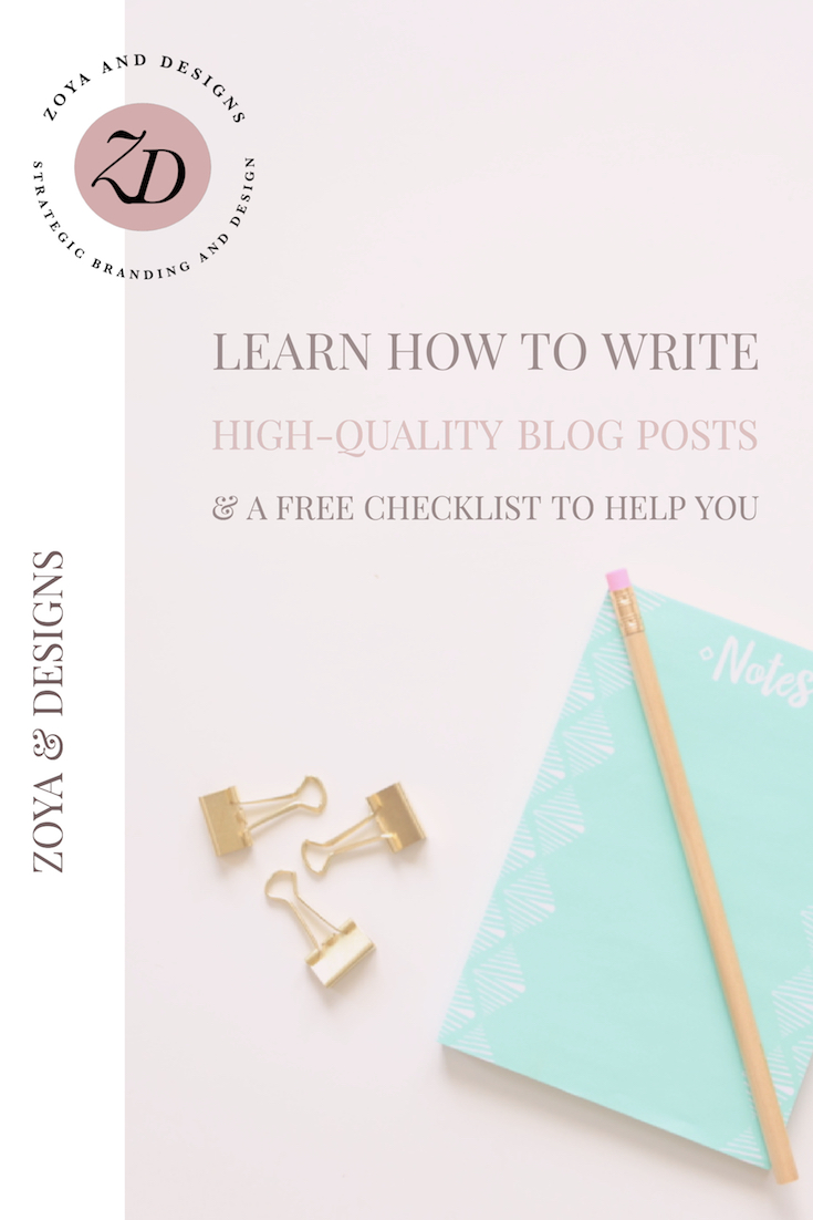 learn to write high-quality blog posts