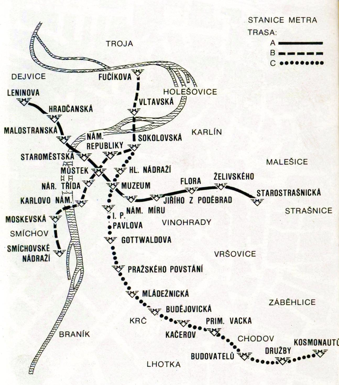 Transpress Nz Prague Metro Maps 1988 And Now