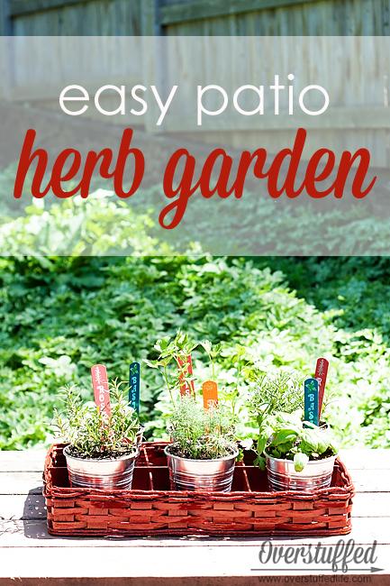Patio Herb Garden - Overstuffed