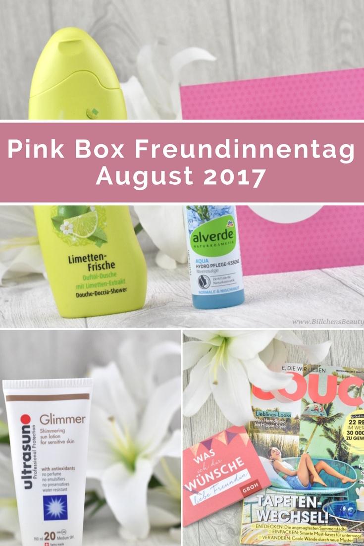 Pink Box - Freundinnentag - August 2017- Unboxing und Inhalt