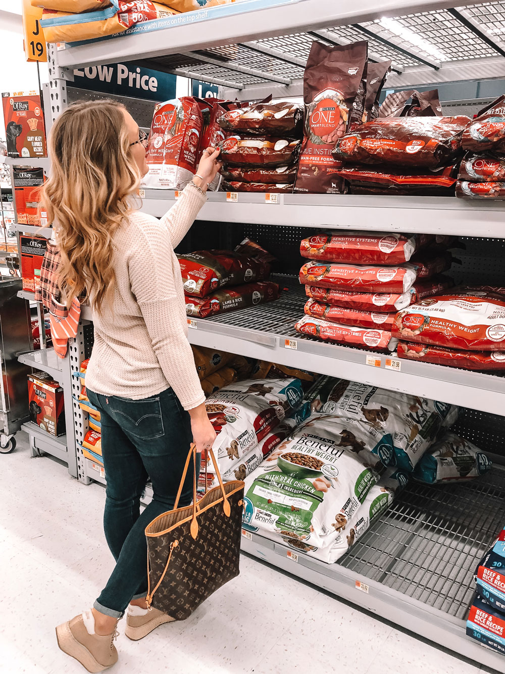 OKC Blogger Amanda Martin shops at Walmart for Purina ONE Dog Food
