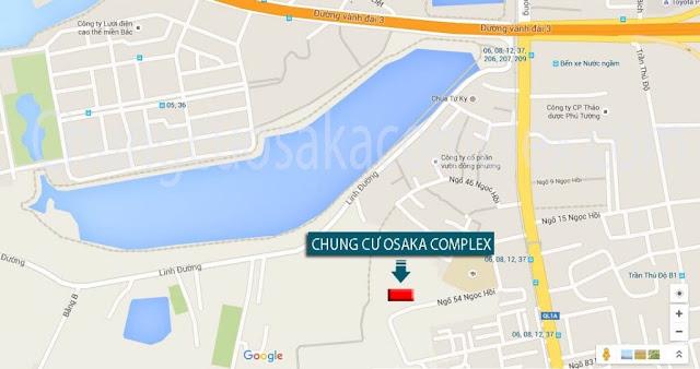 Vị trí dự án chung cư Osaka Complex.