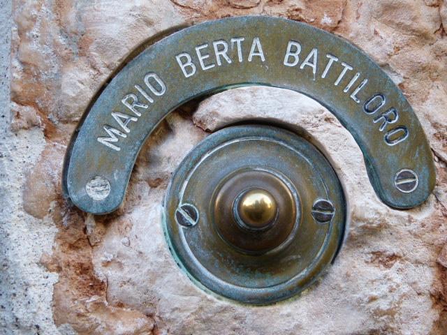 door bell Mario Berta Battiloro