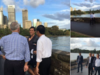 Jalan Santai, Turnbull Kenalkan Presiden Jokowi ke Warga Sydney