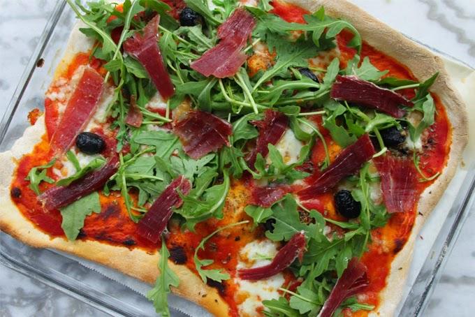 Pizza maison aux couleurs de l'Italie
