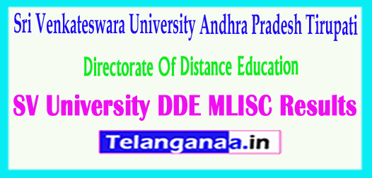SV University DDE MLISC 2018 Results Sri Venkateswara University 2018 DDE MLISC Results