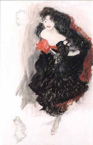 Egon Schiele - Набросок для Юдифи