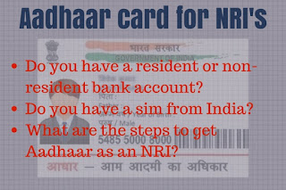 is aadhar card necessary for nris