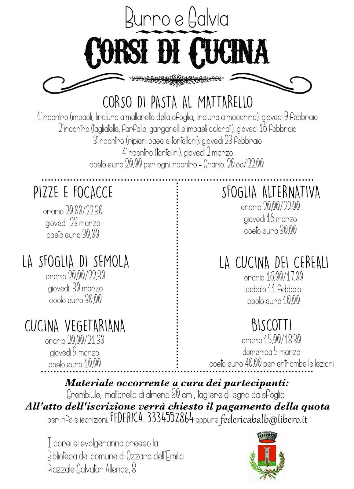 Burro salvia corsi di cucina a bologna - Corsi cucina bologna 2017 ...