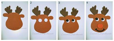 paso a paso hacemos el reno en goma eva para la guirnalda navideña en goma eva