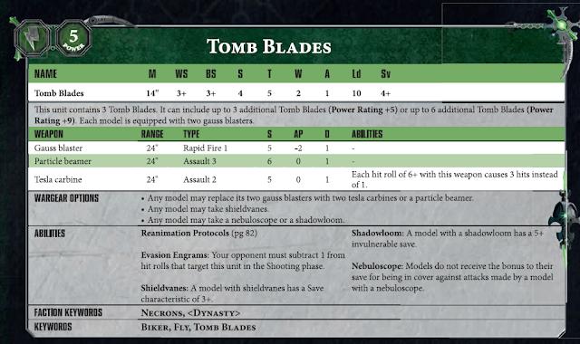 Tomb Blades Necrones