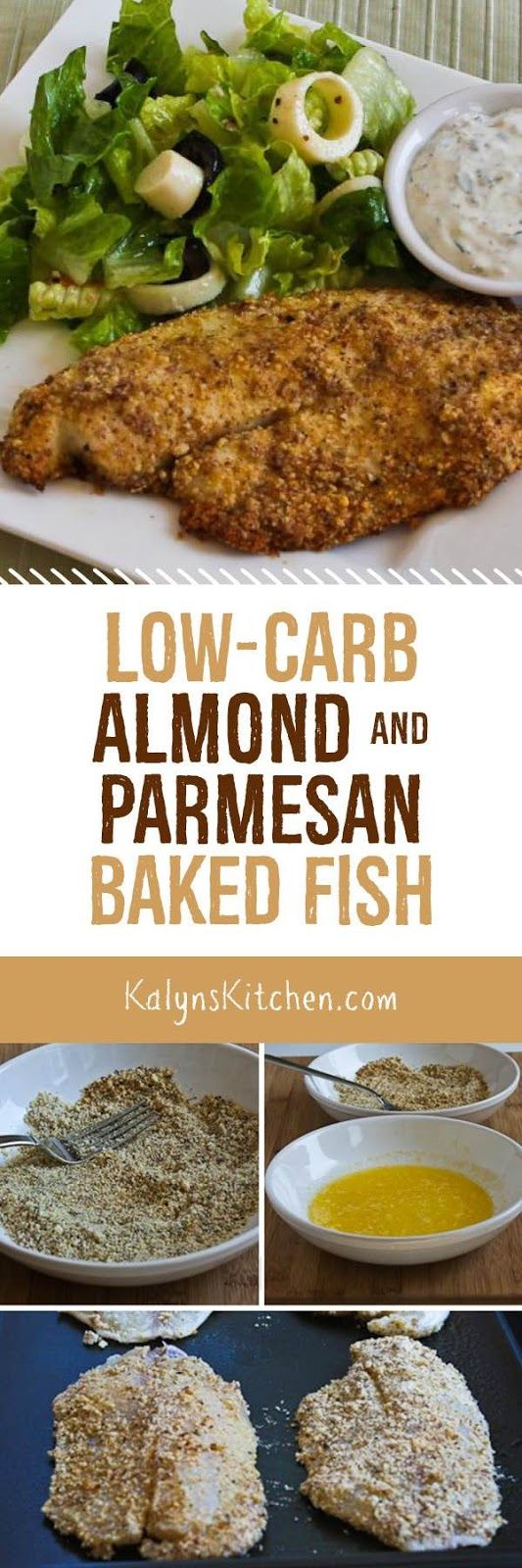 LOW-CARB ALMOND AND PARMESAN BAKED FISH