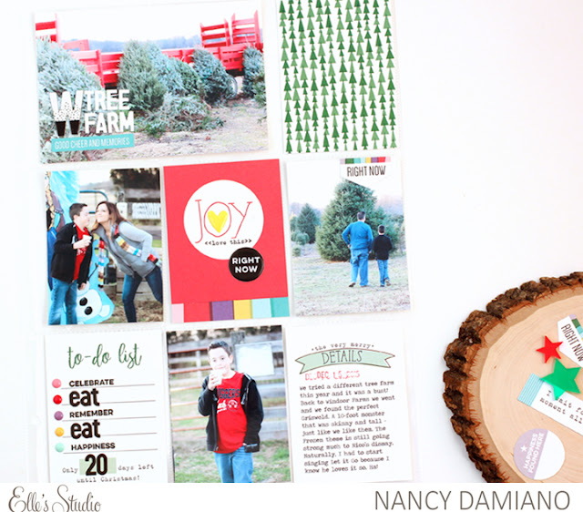 Nancy Damiano Christmas Project Life Elle's Studio