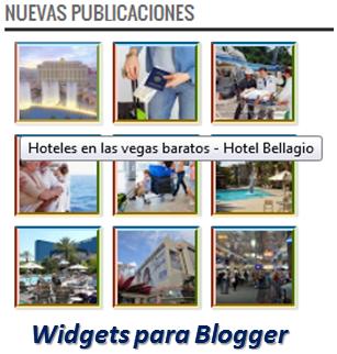 Widgets para Blogger – Nuevas Publicaciones