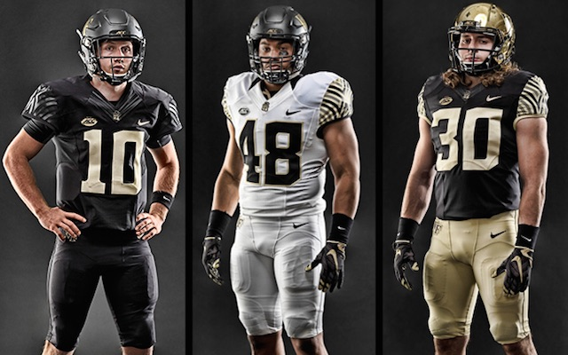 Wake Forest – Wake Forest has worn the same uniform design since 2006  (granted it feels like much longer) e45125a4a