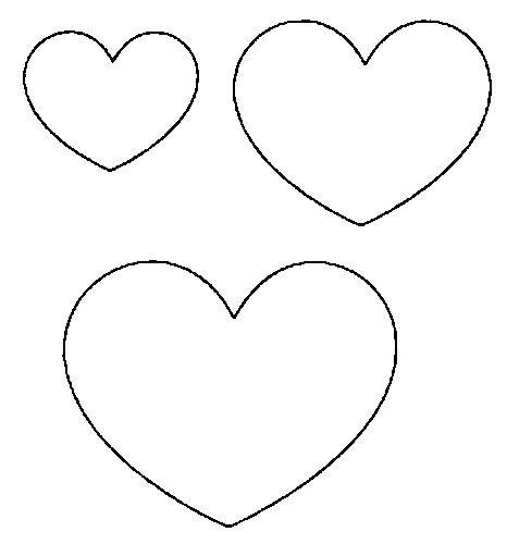 Resultado de imagem para molde coração