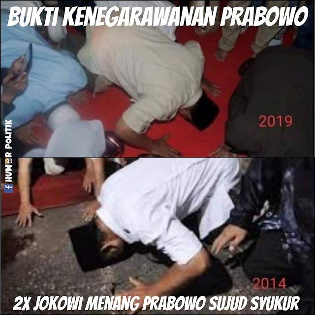 Meme Prabowo Kalah Pilpres 2019