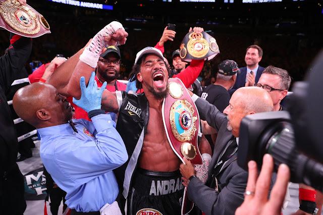 Demetrius Andrade def. Walter Kautondokwa via Unanimous decision to Claim Vacant WBO Belt