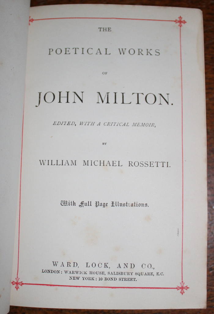 a life and works of john milton Read works of john milton by john milton with rakuten kobo 7 works of john milton english poet, polemicist, a scholarly man of letters, and a civil servant for the commonwealth of.