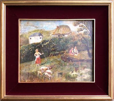 Scena di genere pastorale - dipinto del secolo XIX - annunci