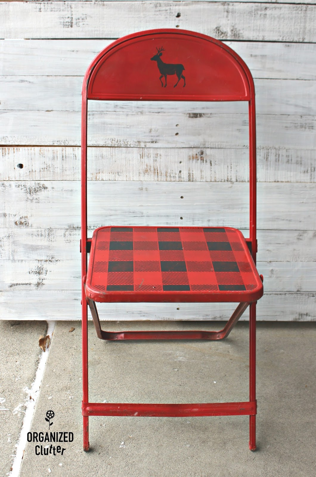 Folding Chair Upcycle Wooden Garden Chairs Thrift Shop Vintage Child 39s Metal Christmas