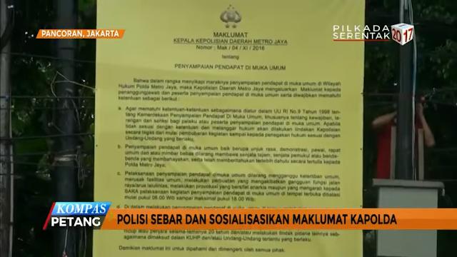 Maklumat Demo 2 Desember Resmi Diturunkan Polda Metro Jaya