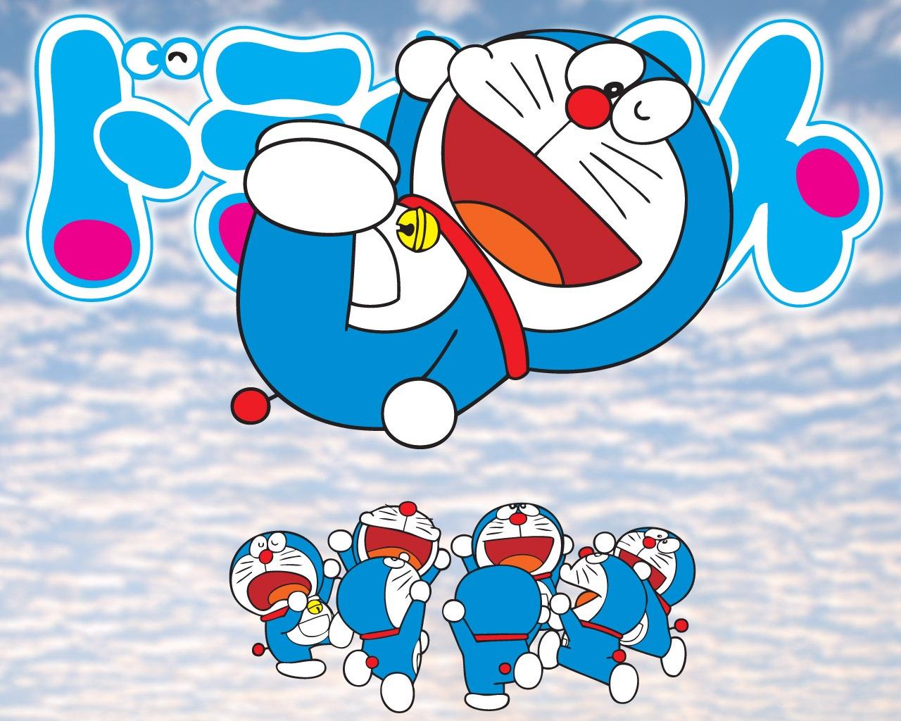 Kopi Hangat Gambar Kartun Doraemon Nobita Teman Temannya Robot Lucu
