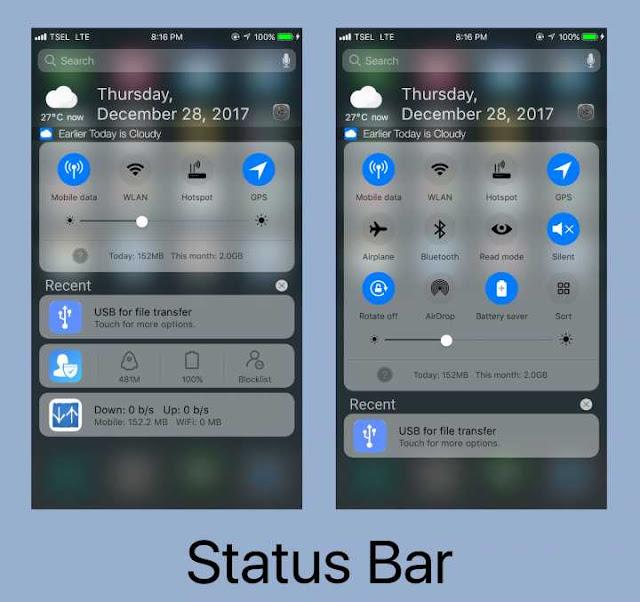 iOS 11 Pro Mtz mod Center Clock
