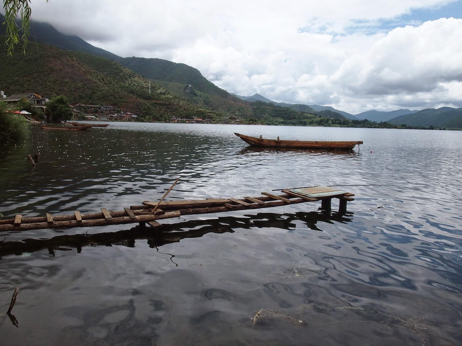 Lugu Lake with a Mosuo kayak
