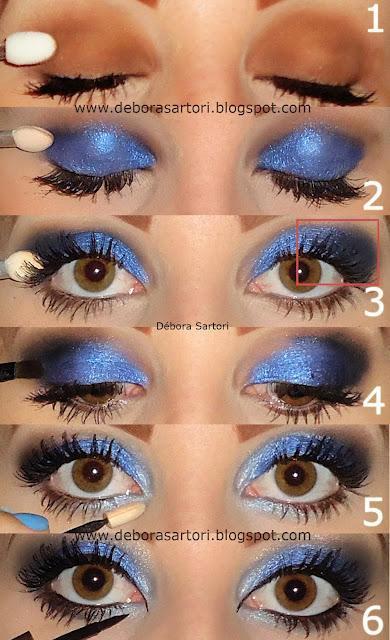 Maquillaje para vestido azul de fiesta