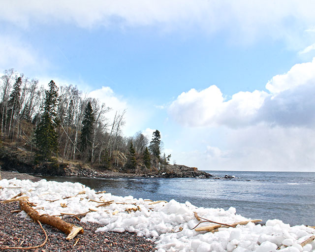 Wintry beach - Lake Superior