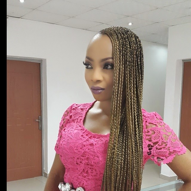 Toke Makinwa Yvonne Nwosu Rocks The Beyonce Side Braids