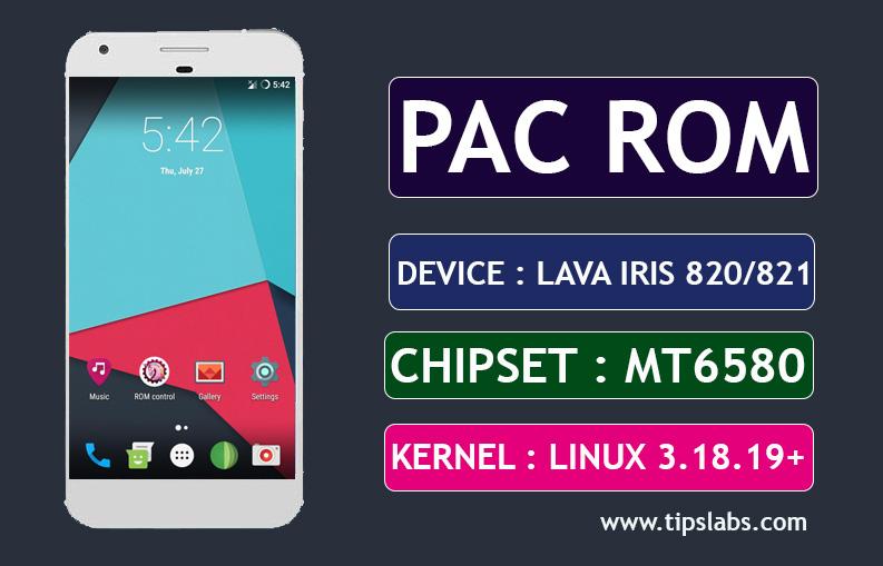 [MT6580] [6.0.1] PAC OS Custom Rom For Lava Iris 820