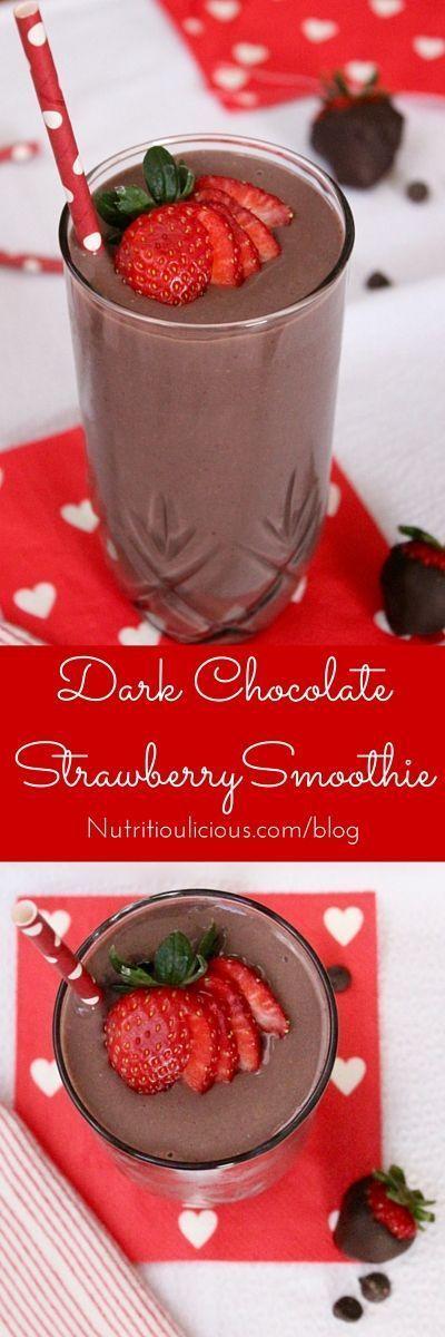 Dark Chocolate Strawberry Smoothie