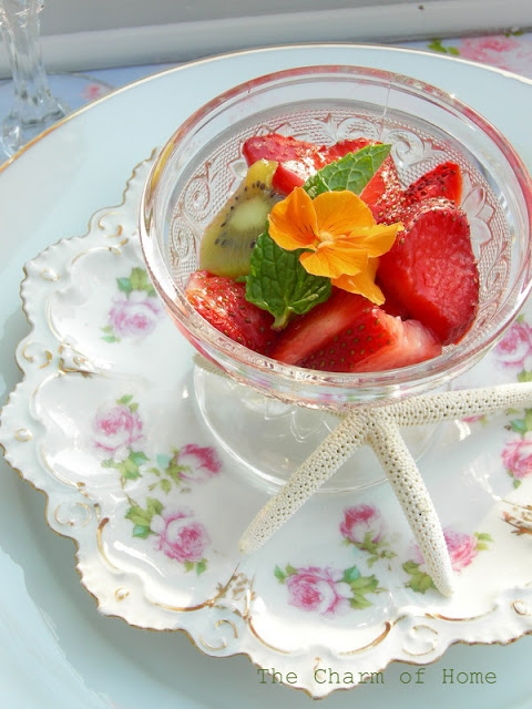 Spring fruit salad: The Charm of home