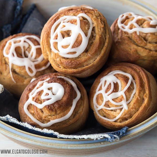 Rolls de manzana y canela - elgatogoloso.com