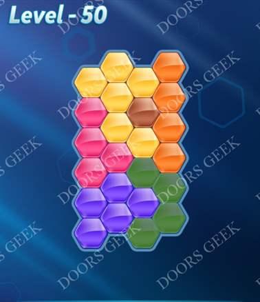 Block! Hexa Puzzle [6 Mania] Level 50 Solution, Cheats, Walkthrough for android, iphone, ipad, ipod