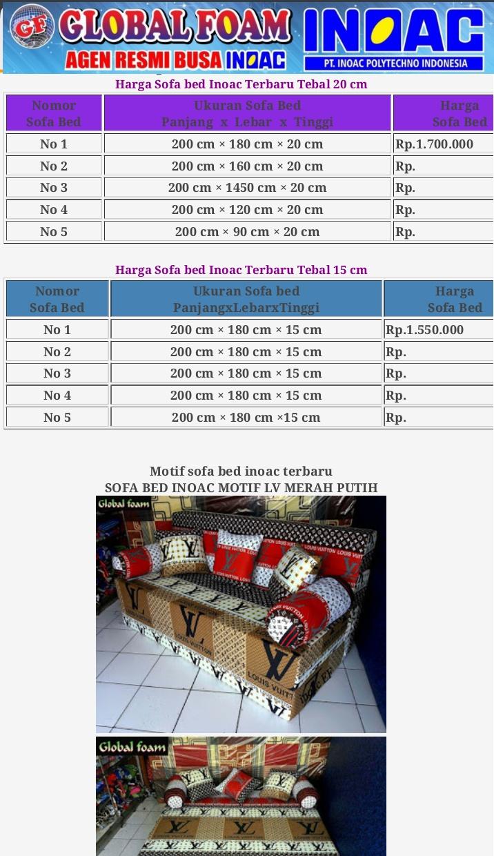 harga cover sofa bed inoac moroso field kasur februari 2019 dan