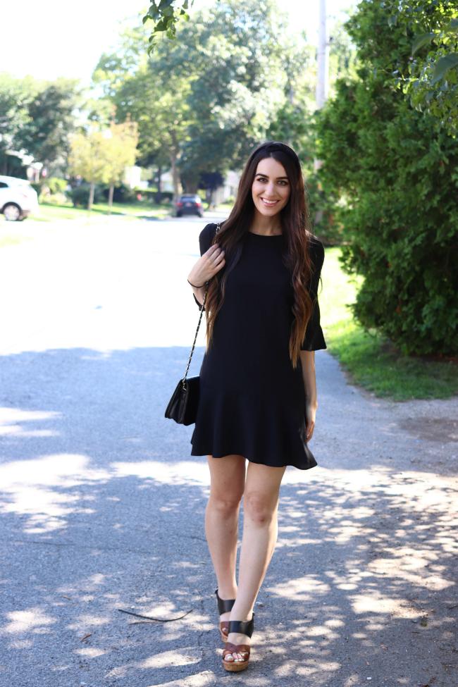 Little Black Ruffle Shift Dress Beauty Sweet Beauty And Fashion Blog