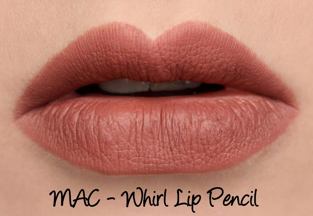 MAC Whirl lip pencil swatches & review