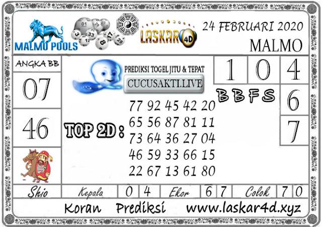Prediksi Togel MALMO LASKAR4D 24 FEBRUARI 2020