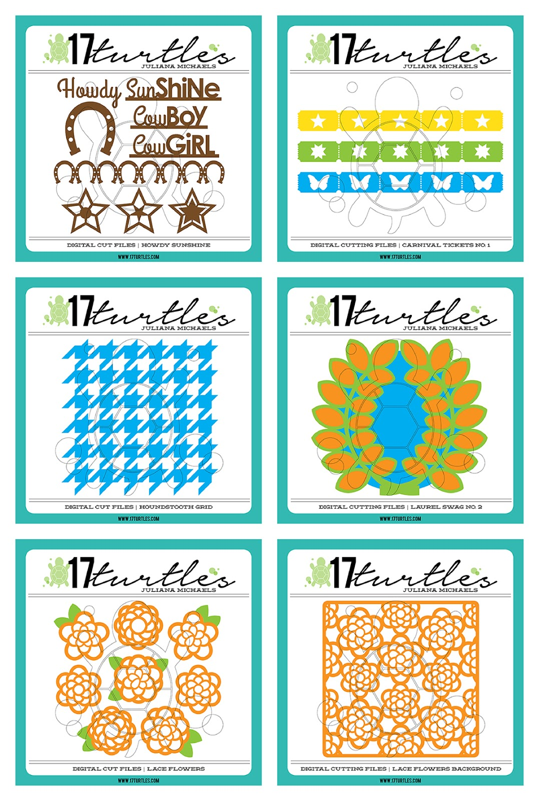New Digital Cut Files by Juliana Michaels 17turtles Esty Shop