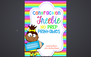 https://www.teacherspayteachers.com/Product/Contraction-Freebie-No-Prep-Printables-1809396