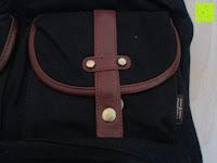 """Tasche außen: Lederrucksack aus Segeltuch Herren/Damen Rucksäcke Rucksack für den täglichen Freizeitgebrauch 13.3""""(L)*19.6""""(H)*7""""(B)"""