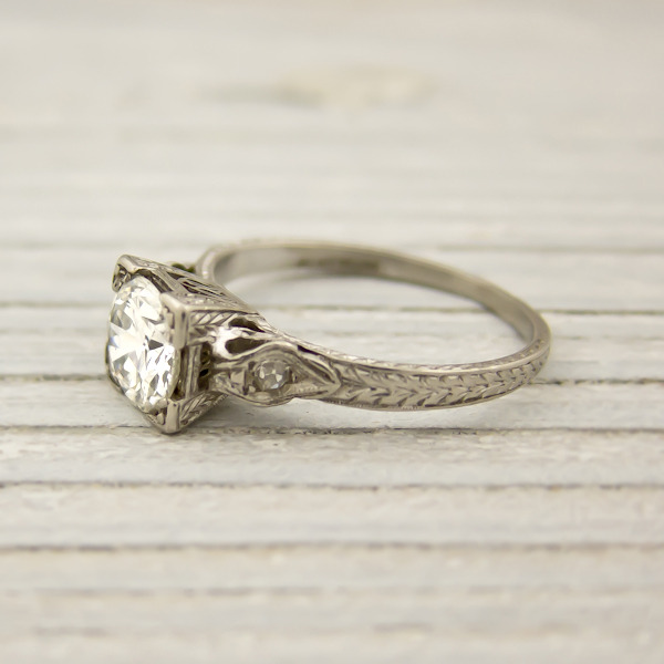 erstwhile jewelry vintage engagement ring 7931 - {Frosted Find}  Erstwhile Jewelry